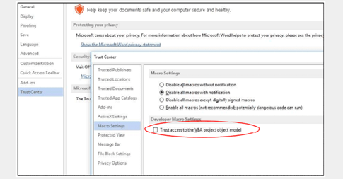 MS Office có thể bị dùng để tạo phần mềm độc hại tự sao chép