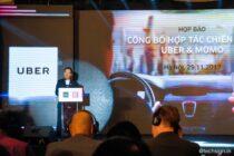 Uber và MoMo hợp tác, tích hợp trả tiền di chuyển bằng ví điện tử