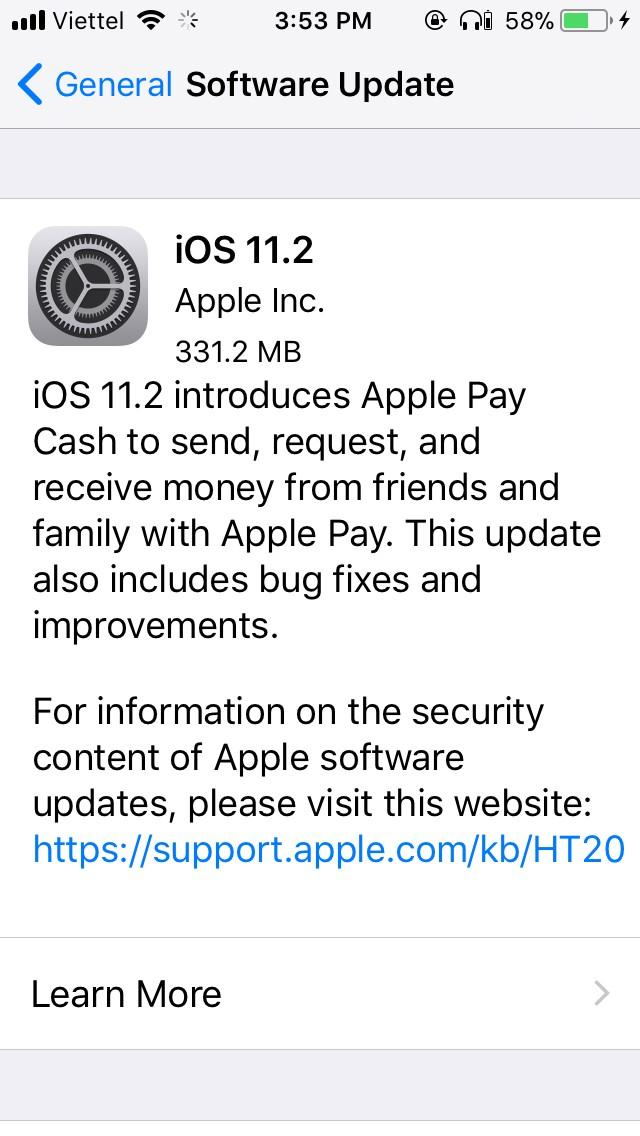 Apple vừa tung ra iOS 11.2 nhằm sửa lỗi Respring?