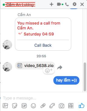 Chi tiết về mã độc gửi tập tin giả mạo video trong Facebook Messenger