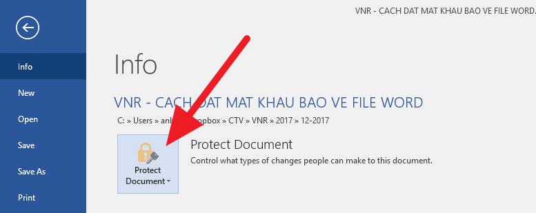 Cách đặt mật khẩu bảo vệ file Word, Excel và PowerPoint
