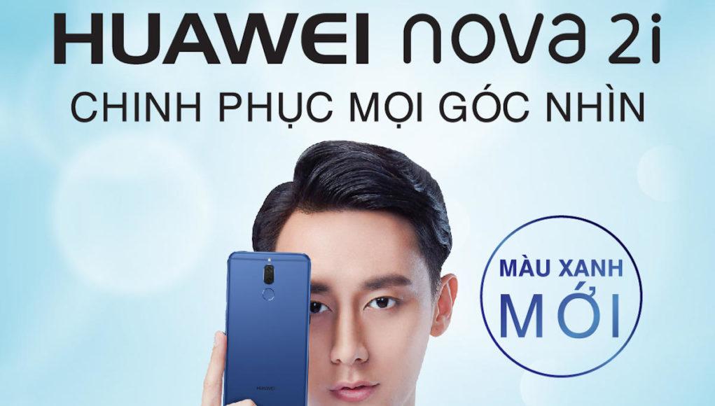 Huawei chính thức ra mắt nova 2i màu xanh Aurora Blue