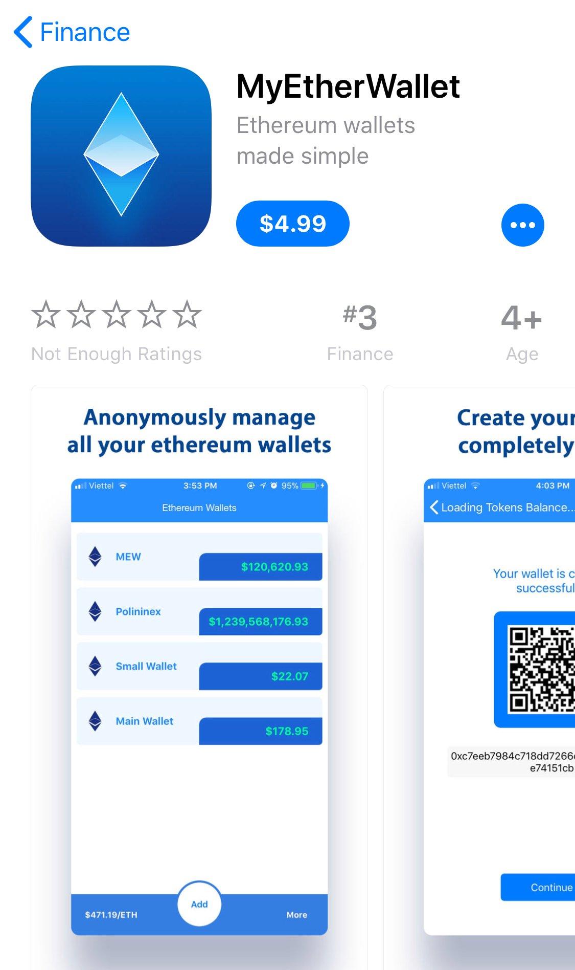 Lập trình viên người Việt làm giả ứng dụng ví tiền mã hoá, lọt vào top 3 App Store Mỹ