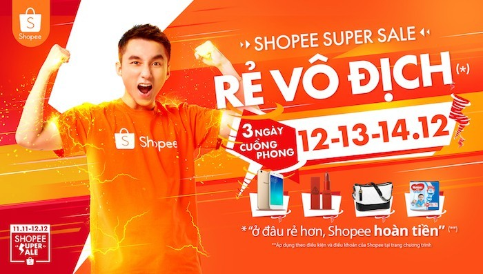 Sắp diễn ra 3 ngày cao điểm Shoppe Super Sale