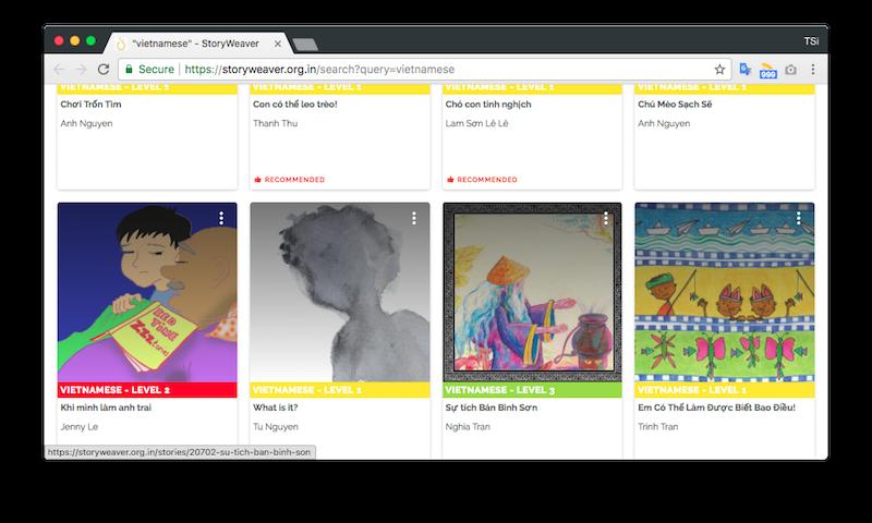 Google giới thiệu StoryWeaver: dự án sách và truyện kể cho trẻ em