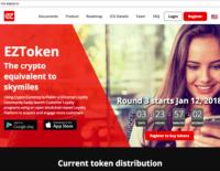 ICO EZToken 3 triệu token đã bán trong 47 giây