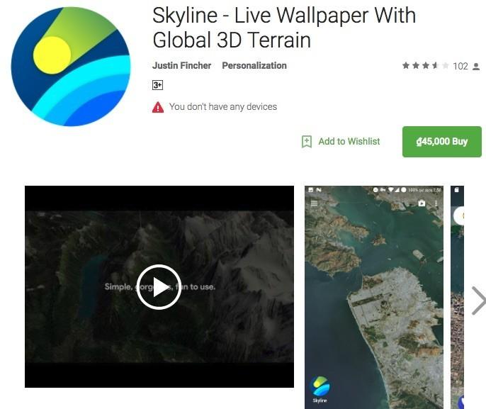 Ứng dụng Android biến màn hình nền điện thoại thành bản đồ vị trí của bạn