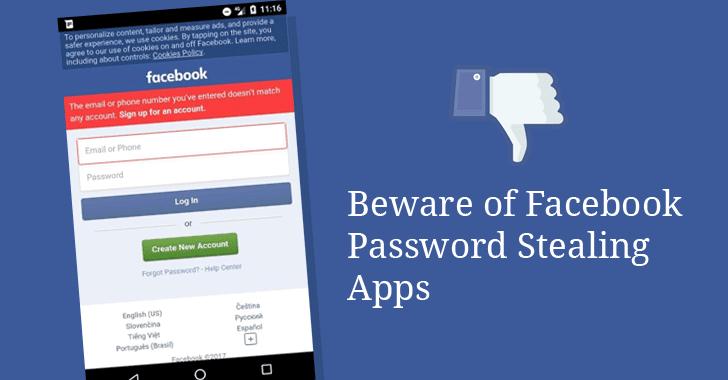 Ứng dụng lấy cắp mật khẩu Facebook trên Play Store bị nghi ngờ là của người Việt
