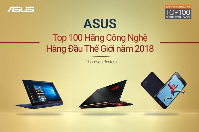 ASUS vào top 100 hãng công nghệ hàng đầu thế giới 2018