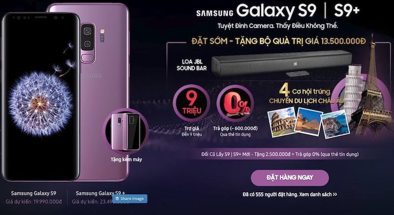 FPT Shop mở đặt hàng mua Galaxy S9 và S9+, tặng bộ quà 13,5 triệu đồng