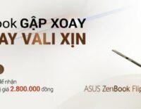ASUS ưu đãi đặt ZenBook Flip 14 tại Lazada nhận vali American Tourister