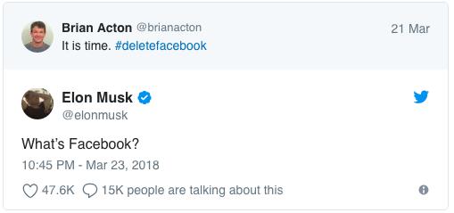 Elon Musk xóa fanpage facebook và cho là mình không biết chúng tồn tại