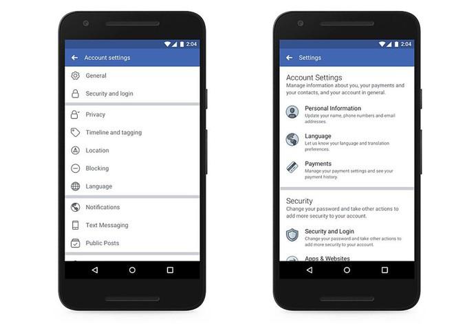 Facebook ngay lập tức thay đổi giao diện menu cài đặt quyền riêng tư sau scandal thu thập dữ liệu