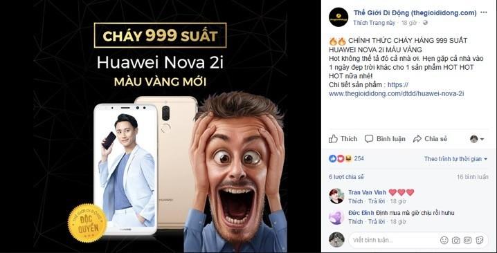 """Huawei sẽ tạo nhiều """"cơn sốt"""" giống Huawei Nova 2i?"""