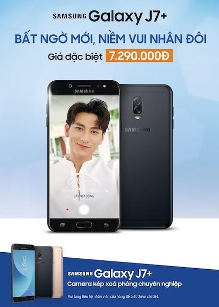 Samsung Galaxy J7+ có giá mới hấp dẫn hơn