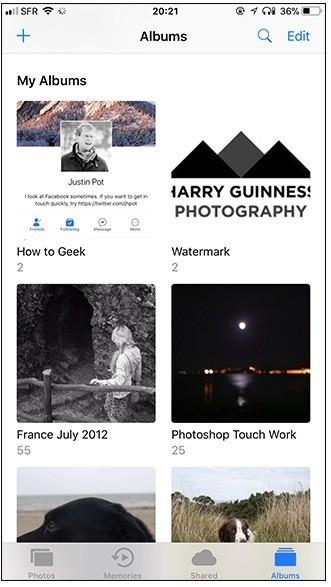 Hướng dẫn sắp xếp hình ảnh trên iPhone bằng Albums