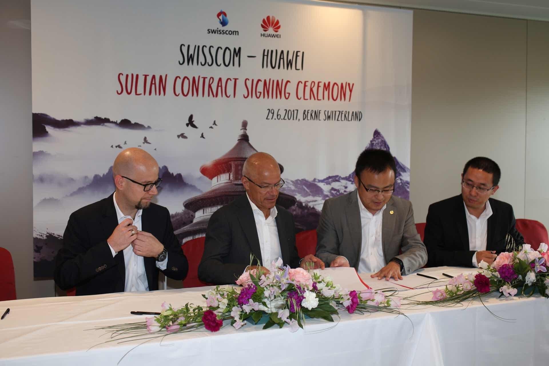 Swisscom và Huawei ký biên bản ghi nhớ dự án NetCity