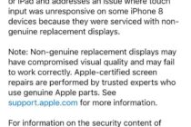 Apple cảnh báo người dùng iOS mới nhất: 'không để bên thứ ba sửa chữa iPhone và iPad'