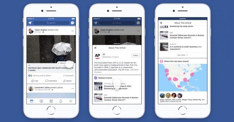 Facebook sẽ hiển thị thông tin giúp phân biệt tin giả