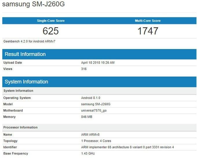 Galaxy J2 Core là smartphone Android Go đầu tiên của Samsung