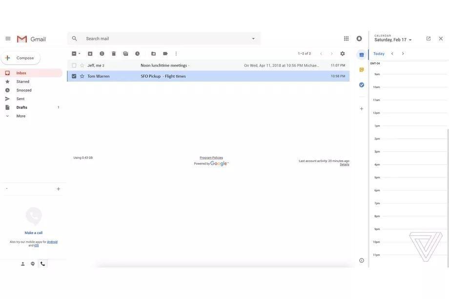 Gmail bật mí diện mạo mới