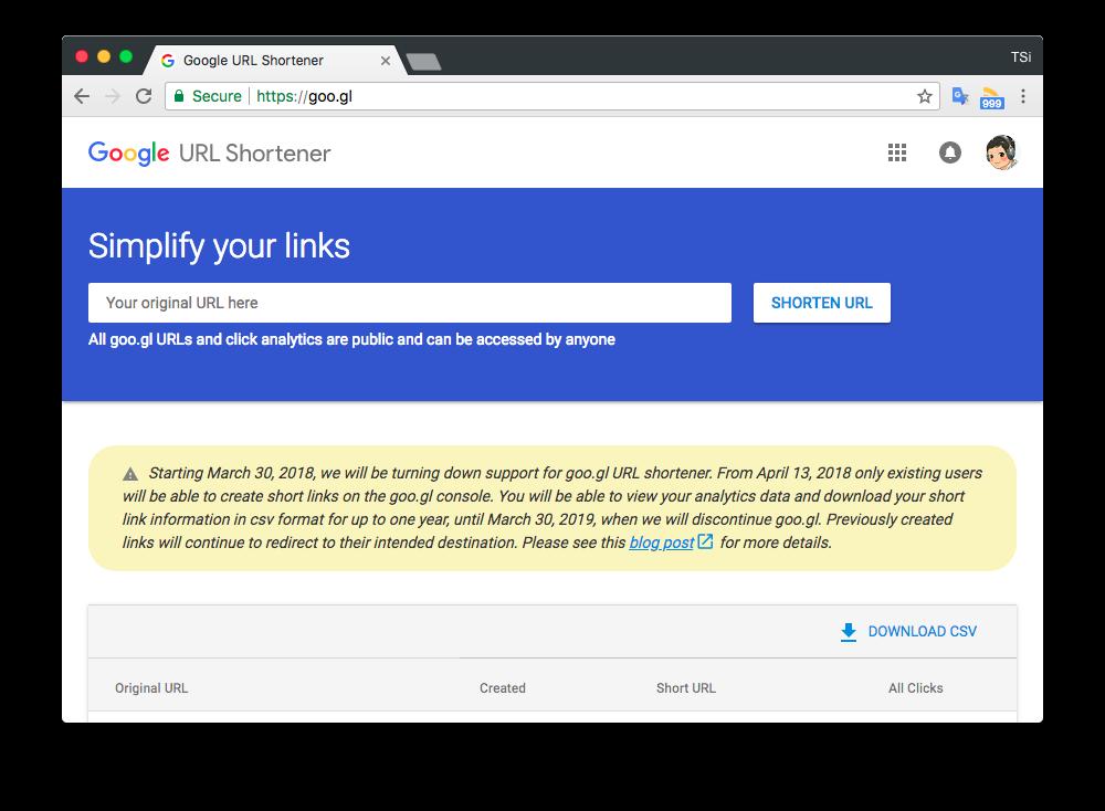 Google sắp đóng cửa dịch vụ rút gọn liên kết goo.gl