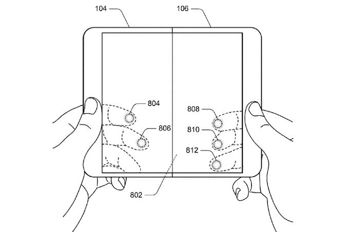 Microsoft và bằng sáng chế thiết bị có thể gấp đôi lại