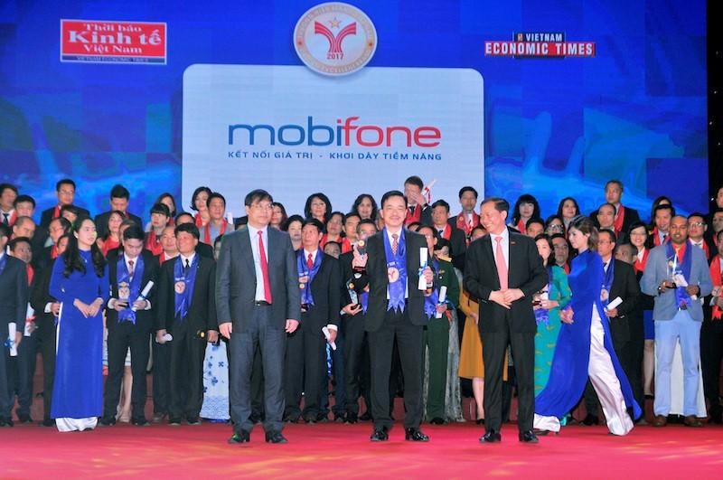 MobiFone đạt danh hiệu Top 10 Thương hiệu mạnh Việt Nam 2017