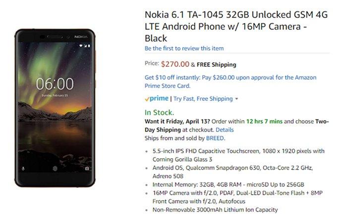 Nokia 6 (2018) chính thức bán ra tại Mỹ