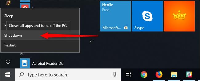 Muốn tắt máy hoàn toàn thì đừng Shut Down, hãy Restart