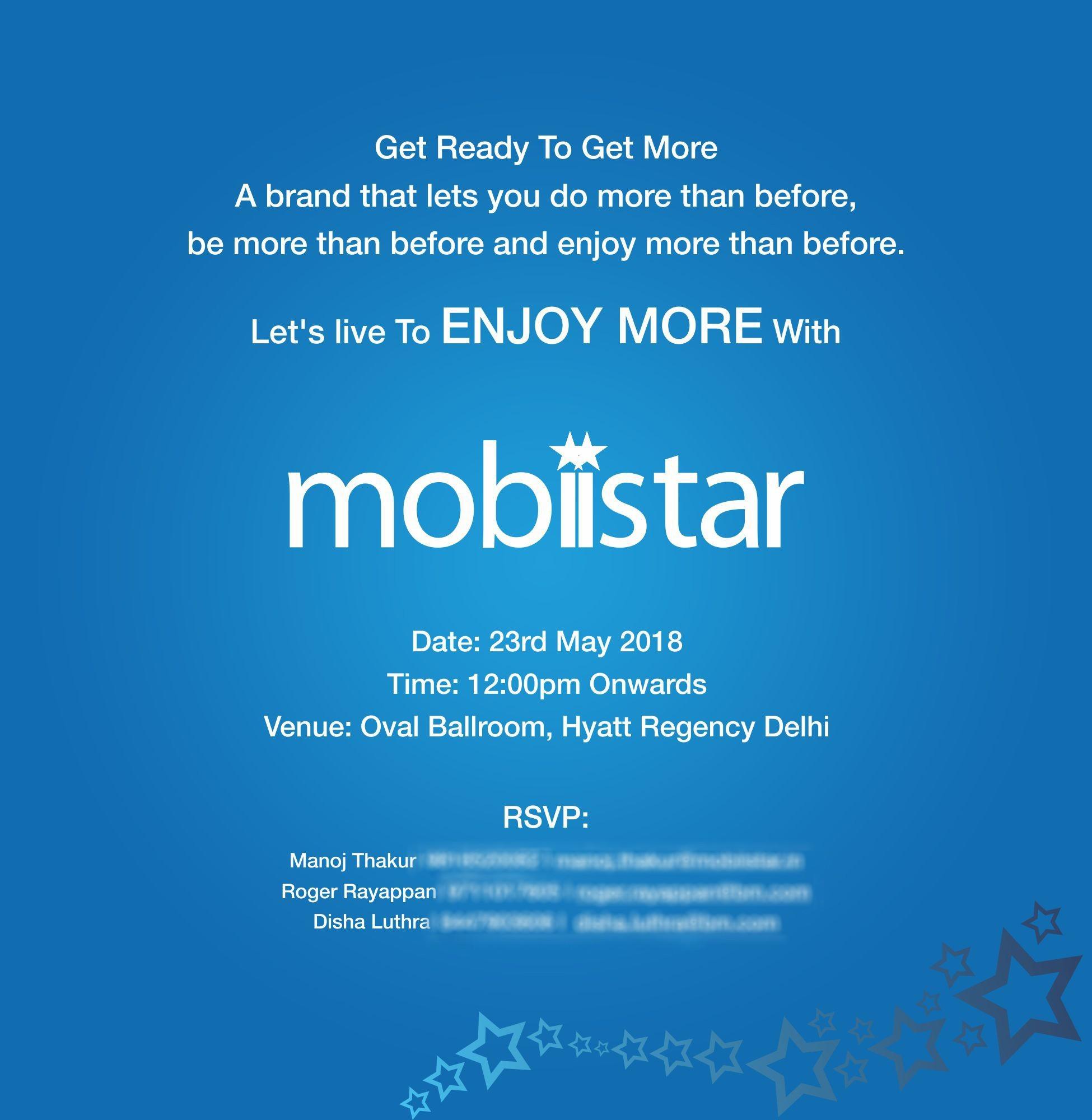 Mobiistar chính thức ra mắt thị trường Ấn Độ vào ngày 23/05