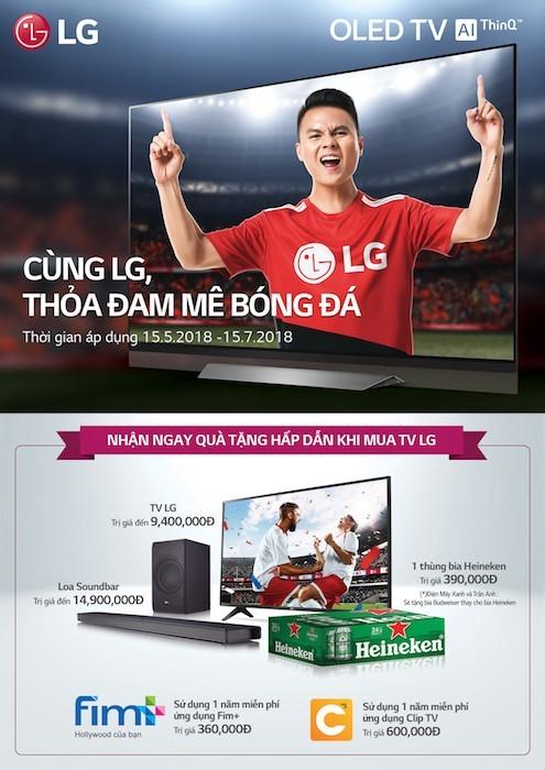 Ra mắt loạt TV LG phục vụ mùa World Cup