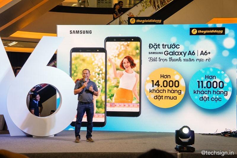 Thế Giới Di Động ghi nhận hơn 13.000 đơn đặt hàng Galaxy A6/A6+