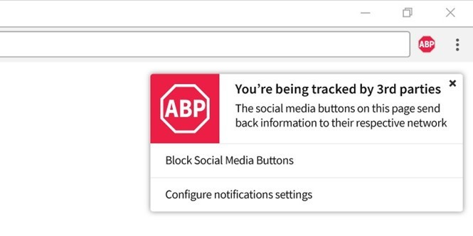 Adblock Plus thêm tính năng chặn website theo dõi người dùng