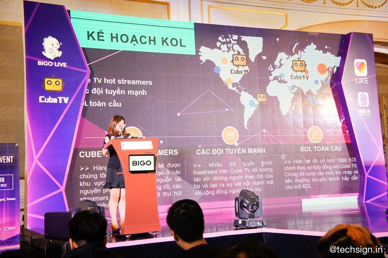 Bigo ra mắt ứng dụng phát trực tiếp Cube TV