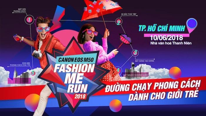 Canon tổ chức sự kiện Fashion Me Run vào chủ nhật này