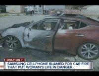 Điện thoại Samsung đốt cháy xe hơi sau khi phát nổ