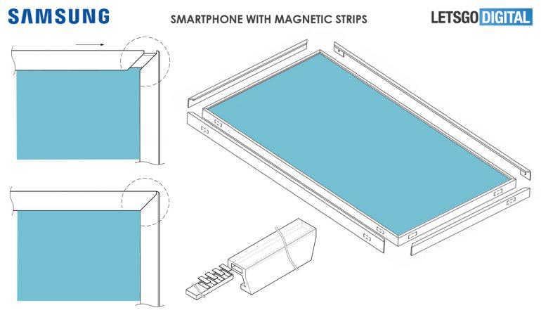 Samsung đăng ký bằng sáng chế màn hình với viền có thể tháo rời