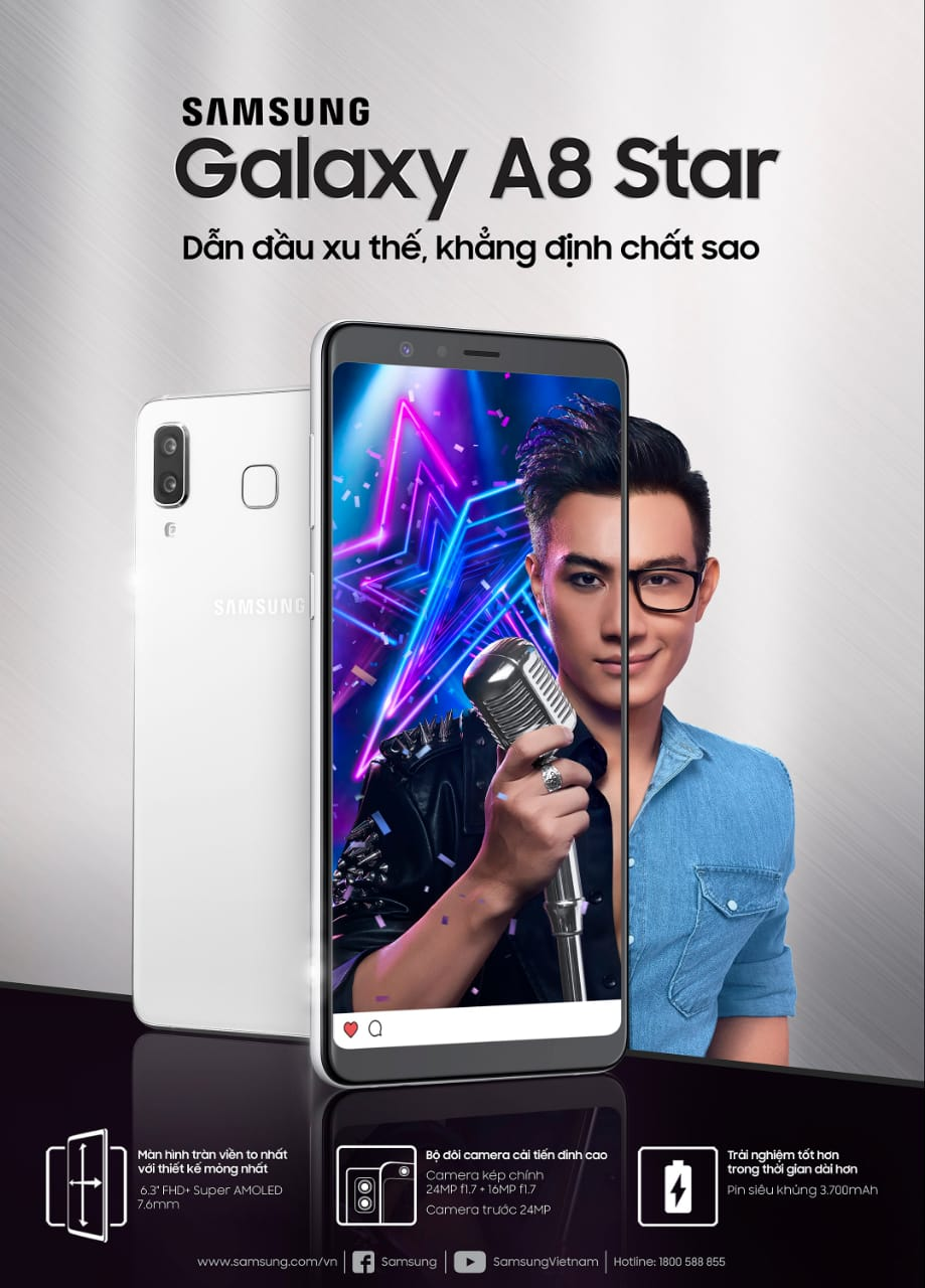 Samsung Galaxy A8 Star ra mắt giá 14 triệu, bán từ 7/7