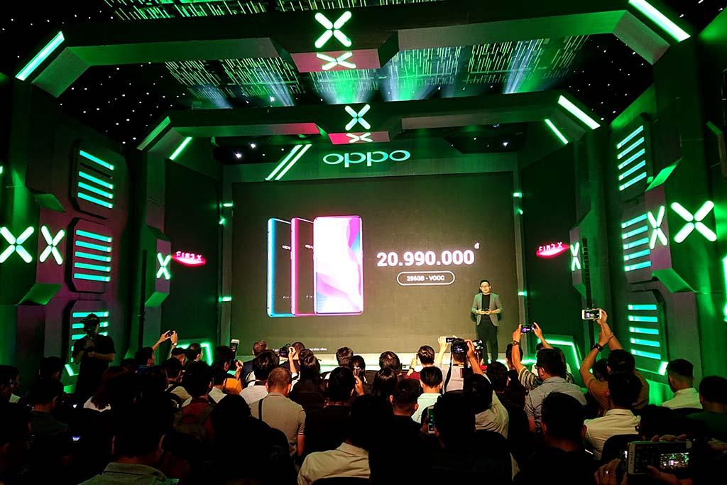 OPPO Find X chính thức ra mắt tại Việt Nam, giá 20,99 triệu