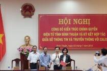 Người dân Bình Thuận đã có thể nhận kết quả đăng ký kết hôn qua Zalo