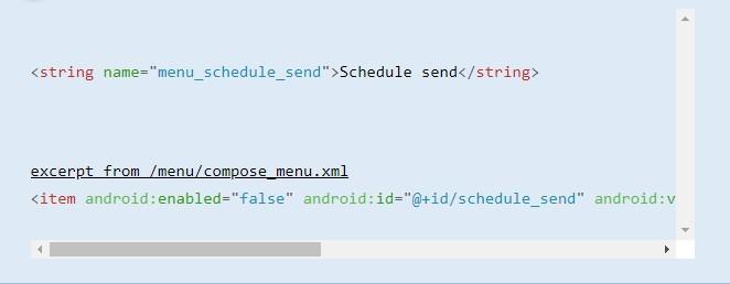 Đoạn mã nguồn tiết lộ tính năng lên lịch của Gmail