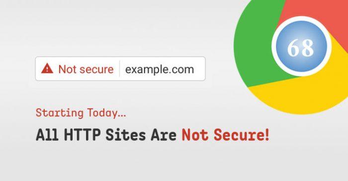 """Google Chrome hiển thị cảnh báo """"Không bảo mật"""" trên website không dùng HTTPS"""