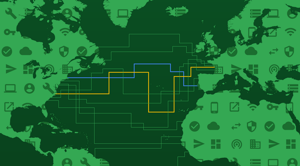 Google xây cáp biển nối Mỹ và Pháp