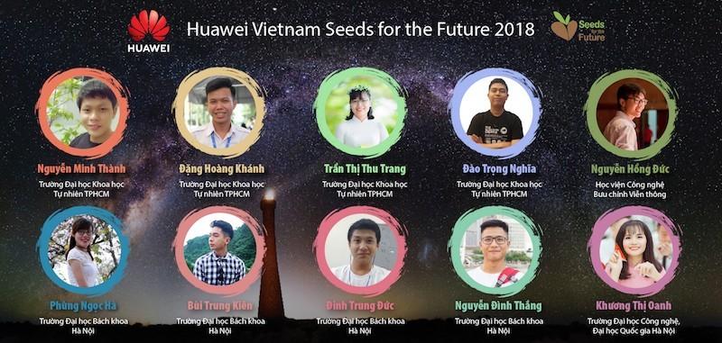 """Huawei công bố 10 sinh viên nhận Học bổng """"Hạt giống Viễn thông Tương lai"""" mùa 3 năm 2018"""