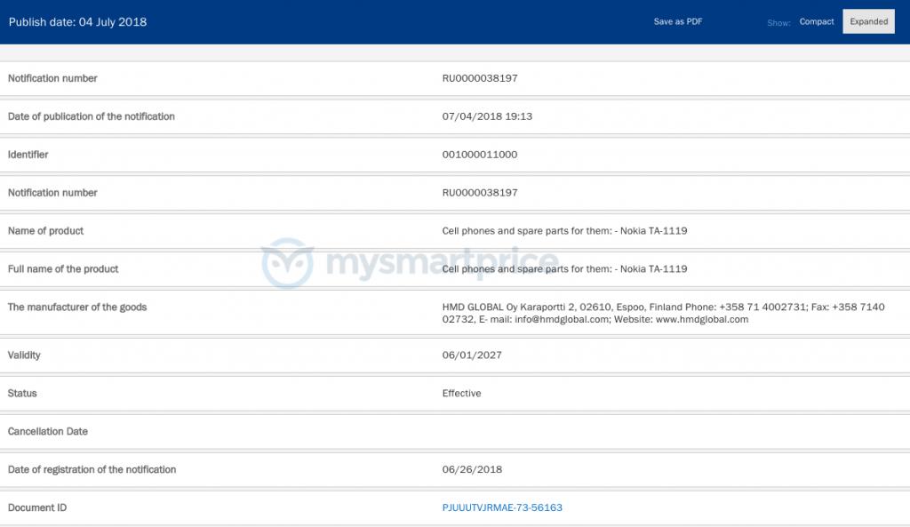 Nokia vừa đăng ký chứng nhận hai thiết bị Nokia tại Nga