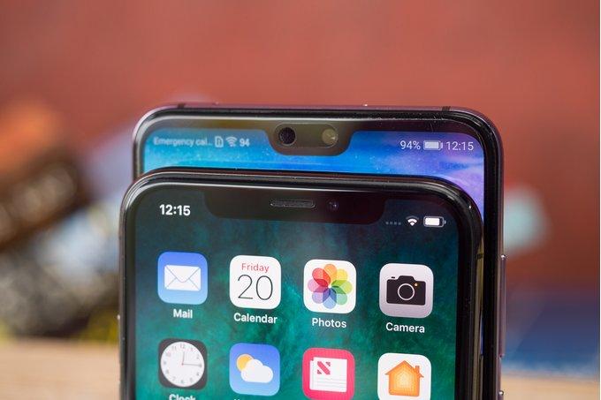 Apple,Huawei dẫn đầu xu hướng tai thỏ nửa đầu năm 2018