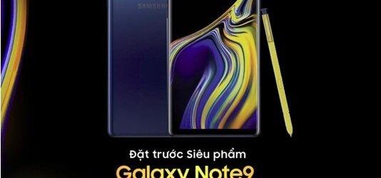 FPT Shop mở đặt cọc mua Galaxy Note9