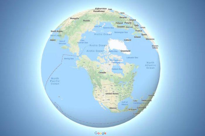 Google Maps cập nhật mô phỏng Trái Đất ở hình cầu