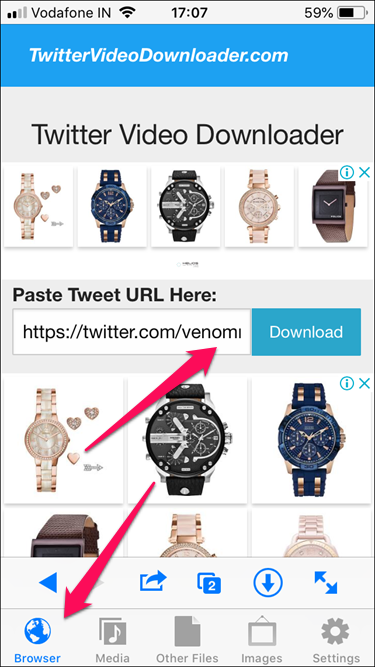 Hướng dẫn download video từ Twitter cho iPhone